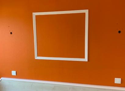 Peinture murale orange par la SARL Roset
